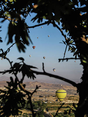 Photograph - Hot Air Balloons In Cappadocia, Turkey by Helissa Grundemann