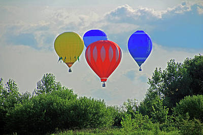 Photograph - Hot Air Balloons In The Sky by Angela Murdock