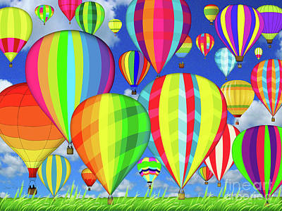 Digital Art - Hot Air Balloons by Jean Plout