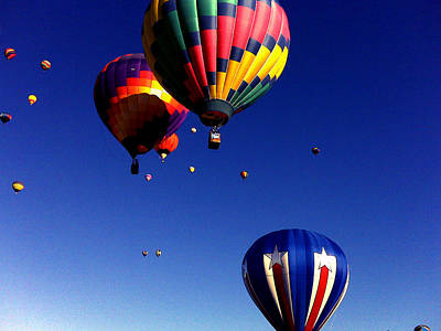 Balloon Fiesta Painting - Hot Air Balloons by Jera Sky