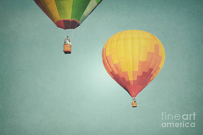 Photograph - Hot Air Balloons Landscape by Andrea Hazel Ihlefeld