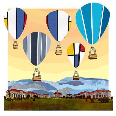 Emu Digital Art - Hot Air Balloons by Matt Jarrels