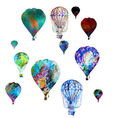 Photograph - Hot Air Balloons by Michael Colgate