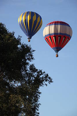 Photograph - Hot Air Balloons Over Dansville Ny by Gerald Salamone