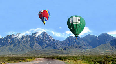 Photograph - Hot Air Over The Organ Mountains by Jack Pumphrey
