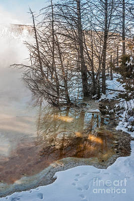 Hot And Cold In Yellowstone Art Print