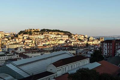 Photograph - Hot And Cold Lisbon Skyline by Georgia Mizuleva