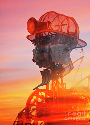 Photograph - Hot And Steamy Man Engine by Terri Waters