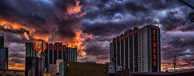Fantasy Royalty-Free and Rights-Managed Images - Hot August Night in Reno by Janis Knight