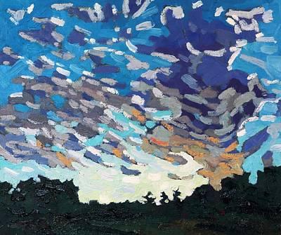 Hot August Sunrise Original by Phil Chadwick
