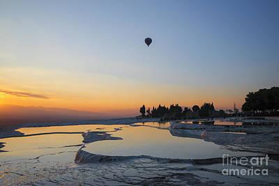 Hot Balloons Over Pammukale Art Print by Yuri Santin