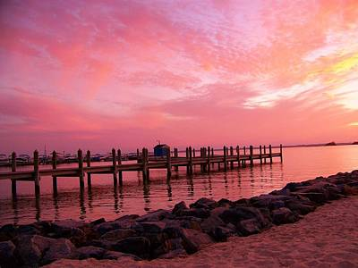 Photograph - Hot Bay Sunset by Trish Tritz