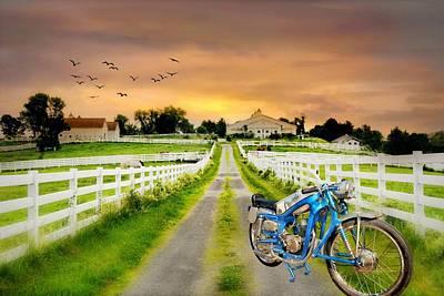 Digital Art - Hot Bike On The Farm by Diana Angstadt