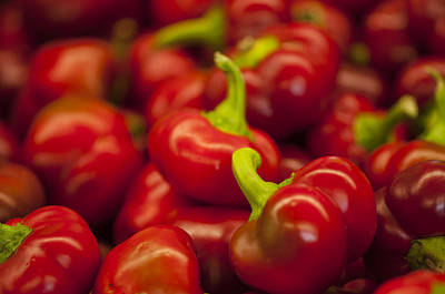 Hot Cherry Peppers Art Print