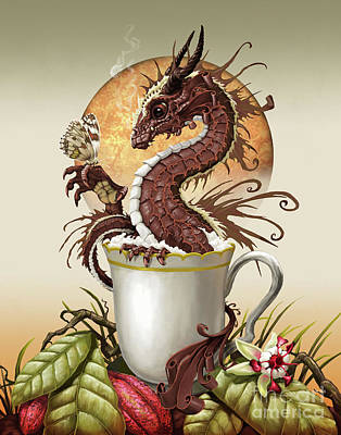 Hot Chocolate Dragon Art Print