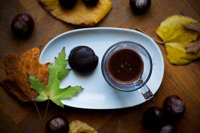 Photograph - Hot Chocolate For Cold Autumn Days by Newnow Photography By Vera Cepic
