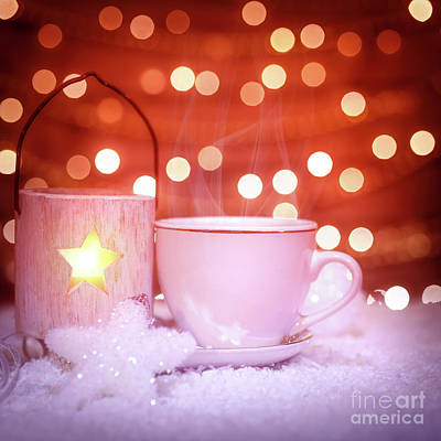 Photograph - Hot Chocolate In Christmas Still Life by Anna Om