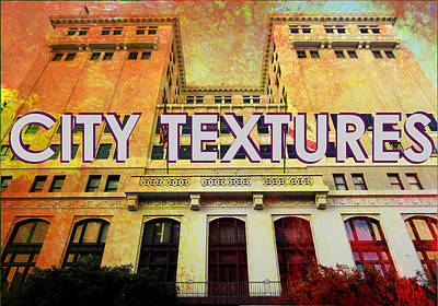 Mixed Media - Hot City Textures by John Fish