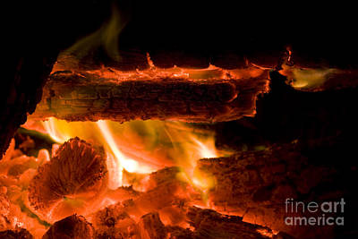 Inferno Photograph - Hot Coals Background by Jorgo Photography - Wall Art Gallery