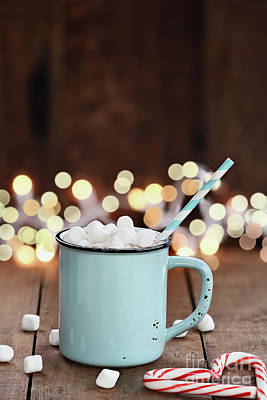 Hot Cocoa With Mini Marshmallows Art Print by Stephanie Frey
