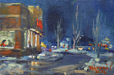 Tim Painting - Hot Coffee In Cold Winter At Tim's With Viola by Ylli Haruni