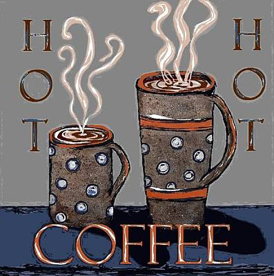 Ceramic Mixed Media - Hot Coffee by Suzanne Theis