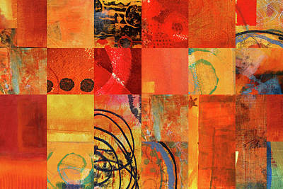 Painting - Hot Color Play by Nancy Merkle
