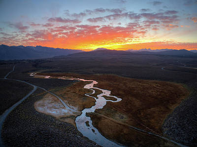 Owens River Photograph - Hot Creek Explosion by David Levy
