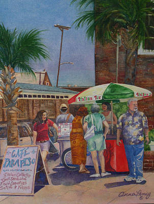 Hot Day At The Slave Market Print by Anna Penny