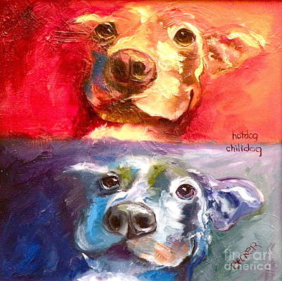 Painting - Hot Dog Chilly Dog Study by Susan A Becker