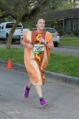 Photograph - Hot Dog Runner by Gregory Daley  MPSA