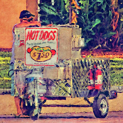 Photograph - Hot Dog Stand by HH Photography of Florida