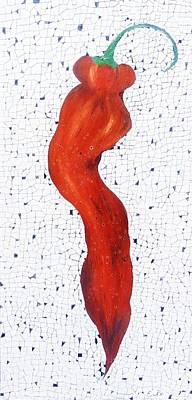 Vegetables Painting - Red Peper by Emil Bodourov
