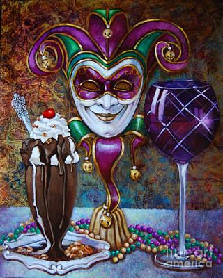 Hot Fudge Panna Cotta Italian Vanilla Ice Cream Art Print by Geraldine Arata