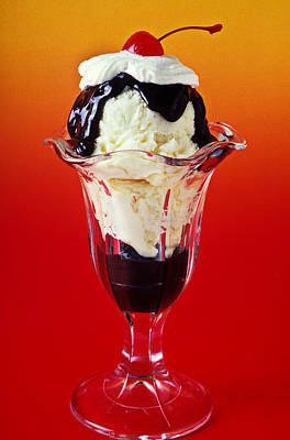 Hot Fudge Sundae Art Print by Garry Gay