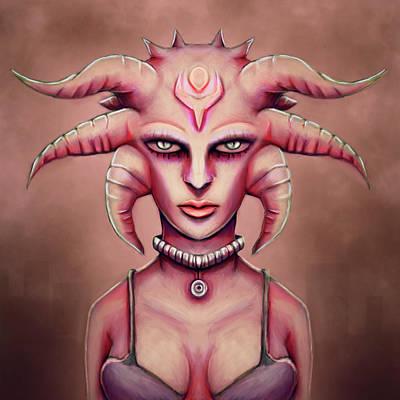 H.r. Giger Digital Art - Hot Grunge Alien Medusa  by Rui Barros