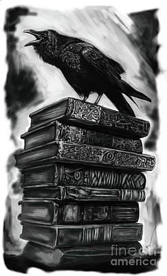 Noir Drawing - Hot Halloween Reads by Julianne Black