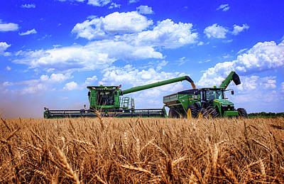 John Deere Wall Art - Photograph - Hot Harvest by Thomas Zimmerman
