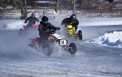 Photograph - Hot Ice Racing by Mike Martin