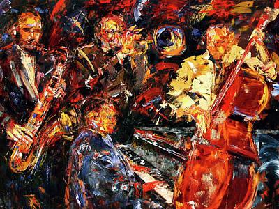 Wall Art - Painting - Hot Jazz 2 by Debra Hurd