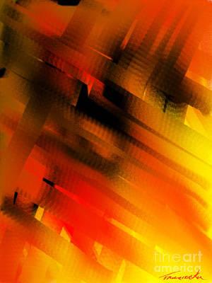 Painting - Hot Lava by Frances Ku