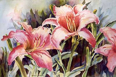 Hot Lillies Art Print