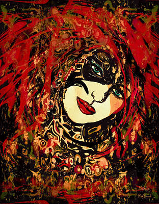 Mixed Media - Hot Lips by Natalie Holland