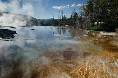 Photograph - Hot Mammoth Springs Reflection by Crystal Wightman