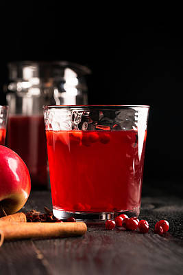 Fruit Punch Photograph - Hot Mulled Wine Prepared With Fruits And Various Spices by Vadim Goodwill