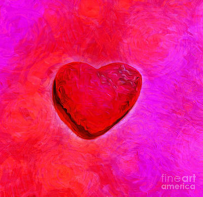 Abstract Hearts Photograph - Hot Passion by Krissy Katsimbras