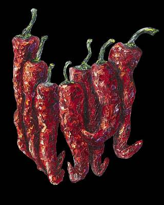 Paprika Painting - Hot Pepper by Lena  Owens OLena Art