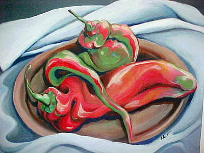 Painting - Hot Peppers by Laura Aceto