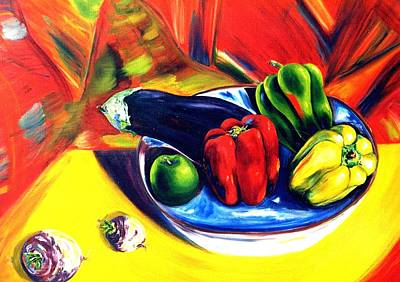 Stil Life Painting - Hot Peppers by Lisa Boyd