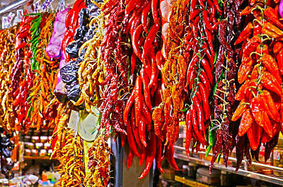 Photograph - Hot Peppers by Nadine Dennis